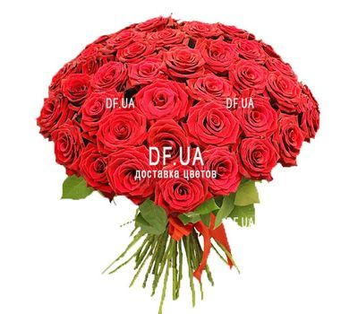 """51 red rose"" in the online flower shop df.ua"