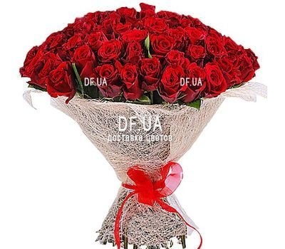"""75 red roses"" in the online flower shop df.ua"