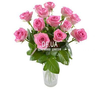 """13 pink roses"" in the online flower shop df.ua"