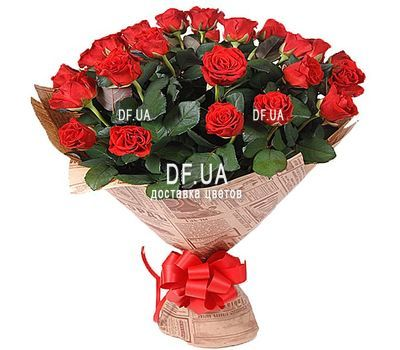 """""""33 red roses"""" in the online flower shop df.ua"""