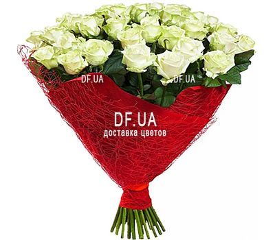 """43 white roses"" in the online flower shop df.ua"