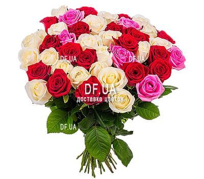 """49 multi-colored roses"" in the online flower shop df.ua"
