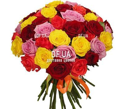 """37 multi-colored roses"" in the online flower shop df.ua"