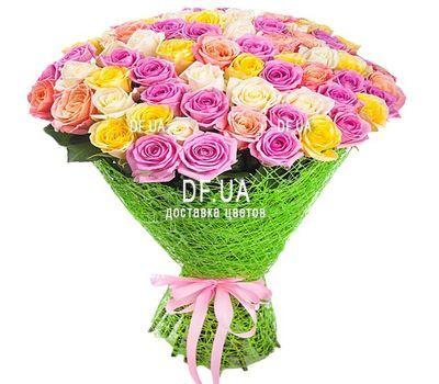 """55 multi-colored roses"" in the online flower shop df.ua"