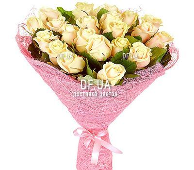 """21 cream-colored roses"" in the online flower shop df.ua"