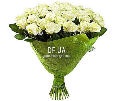 """Bouquet of 37 white roses"" in the online flower shop df.ua"