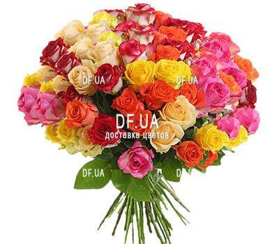 """51 multi-colored rose"" in the online flower shop df.ua"